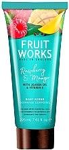 """Parfumuri și produse cosmetice Scrub de corp """"Zmeură și Mango"""" - Grace Cole Fruit Works Body Scrub Raspberry & Mango"""