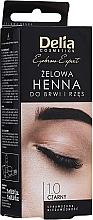 Parfumuri și produse cosmetice Гель-краска для бровей, черная - Delia Eyebrow Tint Gel ProColor 1.0 Black