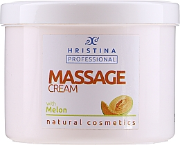 Духи, Парфюмерия, косметика Cremă cu extract de pepene galben pentru masaj - Hristina Professional Massage Cream With Melon
