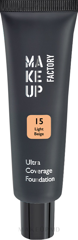 Fond de ten - Make up Factory Ultra Coverage Foundation — Imagine 15 - Light Beige
