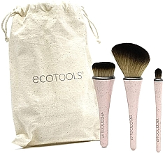 Parfumuri și produse cosmetice Set de 3 pensule pentru machiaj - EcoTools Travel Brush Kit
