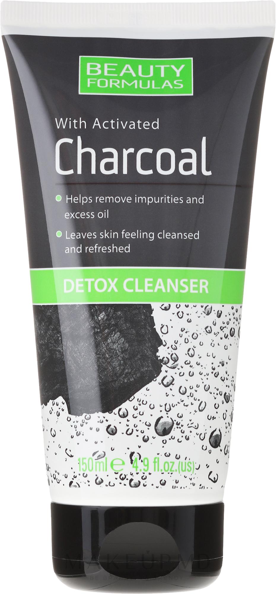 Soluție pentru curățarea pielii feței cu cărbune - Beauty Formulas Charcoal Detox Cleanser — Imagine 150 ml
