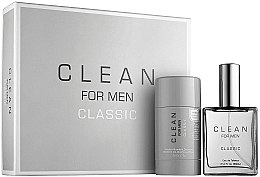 Parfumuri și produse cosmetice Clean Clean For Men Classic - Set (edt/60ml + deo/75g)