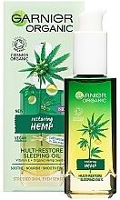 Parfumuri și produse cosmetice Ulei regenerant cu cânepă de noapte pentru față - Garnier Bio Multi-Repair Sleeping Oil