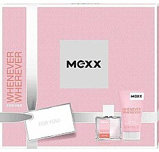 Parfumuri și produse cosmetice Mexx Whenever Wherever For Her - Set (edt/30ml + sh/gel/50ml)