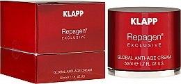Parfumuri și produse cosmetice Cremă antiage pentru față - Klapp Repagen Exclusive Global Anti-Age Cream