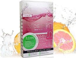 "Set pentru pedichiură ""Grapefruit roz"" - Voesh Pedi In A Box Deluxe Pedicure Vitamin Recharge (35 g) — Imagine N2"