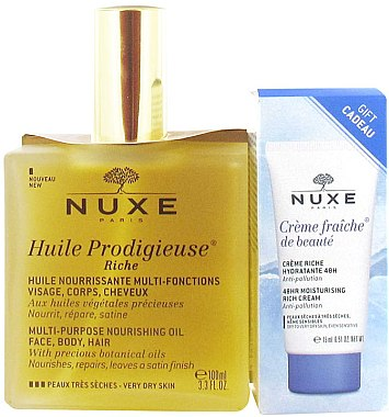 Set - Nuxe (oil/100ml+cream/15ml)