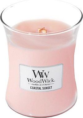 Lumânare parfumată în suport de sticlă - WoodWick Hourglass Candle Coastal Sunset — Imagine N1