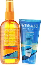 Parfumuri și produse cosmetice Set - Klorane Polysianes (oil/75ml + sh/gel/75ml)