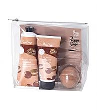 Parfumuri și produse cosmetice Set - Peggy Sage Macaroon (sh/gel/100ml + b/cr/125ml + bath bomb/75g + bag)