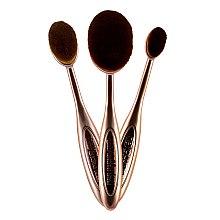 Set de pensule pentru contur - Makeup Revolution Precision Contour Set — Imagine N2