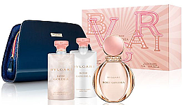 Parfumuri și produse cosmetice Bvlgari Rose Goldea - Set (edp/90ml + b/lot/75ml + sh/gel 75 ml + pouch)
