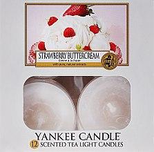 Lumânări pastile - Yankee Candle Scented Tea Light Candles Strawberry Buttercream — Imagine N1