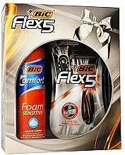 Parfumuri și produse cosmetice Set - Bic Flex 5 Comfort (razor/3pcs + foam/200ml)