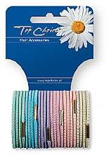 Parfumuri și produse cosmetice Elastice pentru păr 12 buc., 21275 - Top Choice