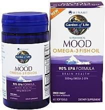 Parfumuri și produse cosmetice Ulei de pește Omega-3, 500 mg capsule - Garden of Life Minami Mood Omega-3 Fish Oil