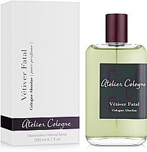 Parfumuri și produse cosmetice Atelier Cologne Vetiver Fatal - Apă de colonie