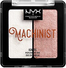 Parfumuri și produse cosmetice Iluminator pentru față - NYX Professional Makeup Machinist Highlighter Duo