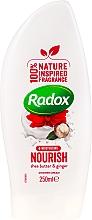 Cremă-gel de duș - Radox Moisturising Nourish Shea Butter & Ginger Shower Cream — Imagine N1