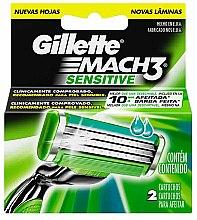 Духи, Парфюмерия, косметика Сменные кассеты для бритья, 2 шт. - Gillette Mach3 Sensitive
