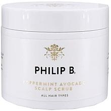 Parfumuri și produse cosmetice Scrub cu mentă și avocado pentri scalp - Philip B Peppermint Avocado Scalp Scrub