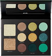 Parfumuri și produse cosmetice Paletă de machiaj - Milani Gilded Jade Hyper-Pigmented Eye & Face Palette