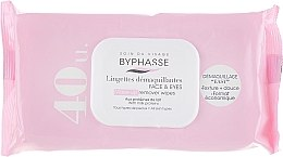 Parfumuri și produse cosmetice Șervețele de curățare facială, 40 buc - Byphasse Make-up Remover Wipes Milk Proteins All Skin Types