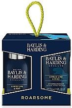 Parfumuri și produse cosmetice Set - Baylis & Harding Men's Citrus Lime & Mint 4 Piece Box(hair/body/wash/100ml+sh/gel/50ml+face/wash/100ml+a/sh/balm/50ml)