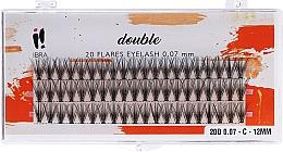 Parfumuri și produse cosmetice Gene false, smocuri, C 12 mm - Ibra 20 Flares Eyelash Knot Free Naturals