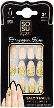 Parfumuri și produse cosmetice Set de unghii false - Sosu by SJ False Nails Long Stiletto Champagne Kisses