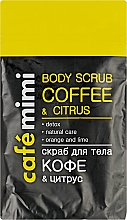 """Parfumuri și produse cosmetice Scrub pentru corp """"Cafea și citrice"""" - Cafe Mimi Body Scub Coffee & Citrus"""