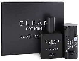 Духи, Парфюмерия, косметика Набор - Clean Black Leather Men (edt/100ml + deo/75ml)