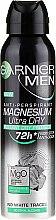 Parfumuri și produse cosmetice Deodorant - Garnier Mineral Men Mineral Magnesium Ultra-Dry Anti-Perspirant Spray