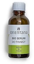 Parfumuri și produse cosmetice Ser cu ulei de Neem și Tulsi pentru față - Orientana Bio Serum For Face