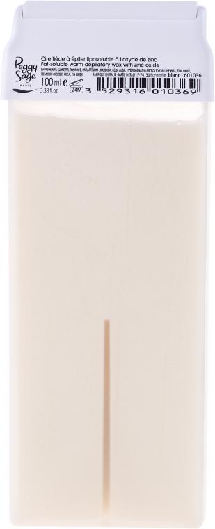 Ceară pentru depilare caldă, cartuș - Peggy Sage Cartridge Of Fat-Soluble Warm Depilatory Wax Blanc