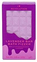 """Parfumuri și produse cosmetice Bombă de baie - I Heart Revolution Chocolate Bar Bath Fizzer """"Lavender"""""""