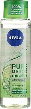 "Șampon micelar ""Detox"" - Nivea Pure Detox Micellar Shampoo"