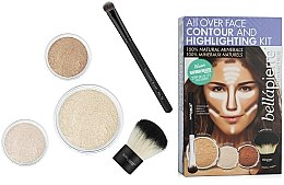 """Parfumuri și produse cosmetice Set pentru conturul feței """"Fair"""" - Bellapierre All Over Face Contour and Highlighting Kit """"Fair"""""""