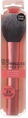 Pensulă pentru pudră, roz, 01401 - Real Techniques Powder Brush