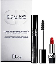 Parfumuri și produse cosmetice Dior Diorshow Pump 'N' Volume Mascara & Lipstick Set (mascara/6ml+lipstick/1.5g) - Set