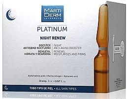 Parfumuri și produse cosmetice MartiDerm Platinum Night Renew Ampollas - Fiole anti-îmbătrânire de noapte pentru față