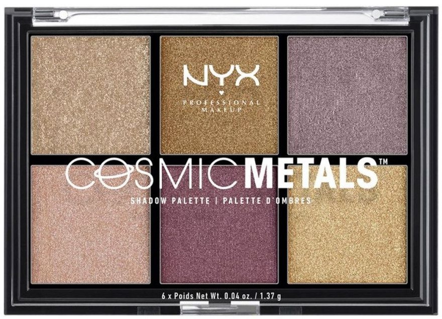 Paleta fard de pleoape - NYX Professional Makeup Cosmic Metals Shadow Palette
