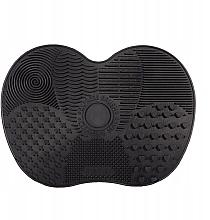 Parfumuri și produse cosmetice Covoraș din silicon pentru curățarea pensulelor, negru, mărimea XL - Lash Brown