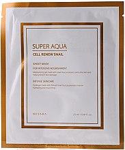 Parfumuri și produse cosmetice Mască de hidrogen, cu mucus de melc - Missha Super Aqua Cell Renew Snail Hydro Gel Mask