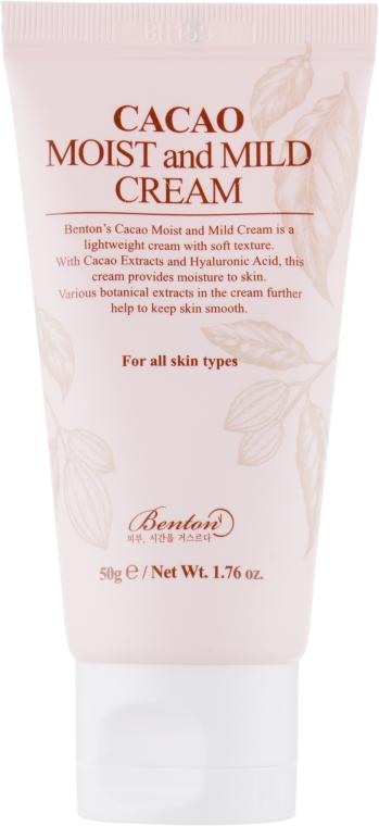 Cremă de față - Benton Cacao Moist and Mild Cream — Imagine N1