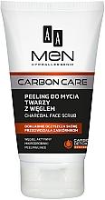 Parfumuri și produse cosmetice Scrub cu cărbune activat pentru față - AA Men Carbon Care Charcoal Face Scrub
