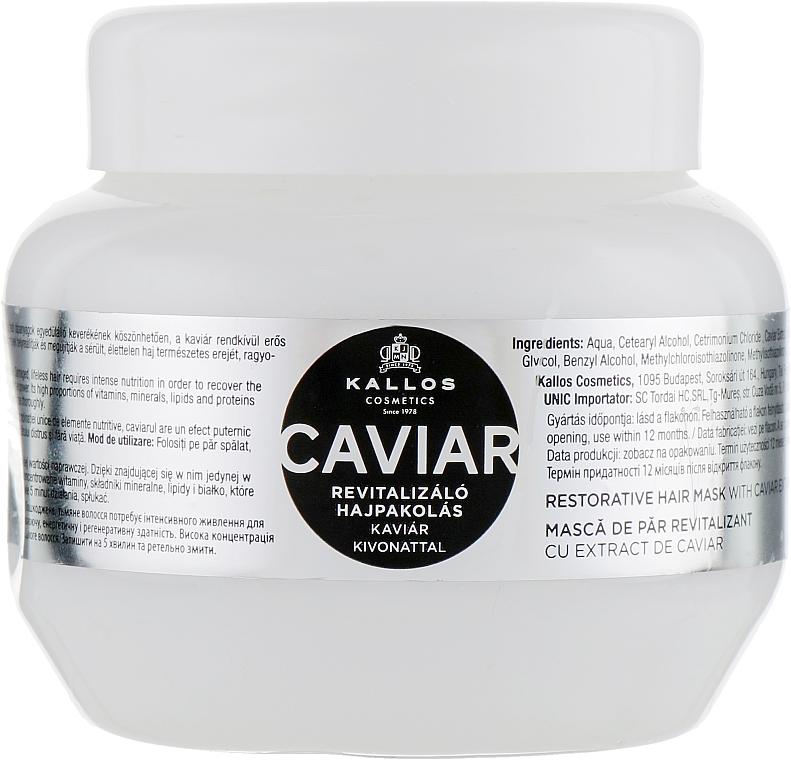 Mască cu extract de icre negre pentru regenerarea părului - Kallos Cosmetics Anti-Age Hair Mask