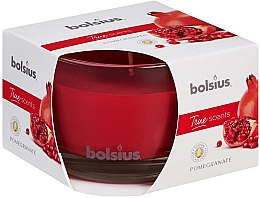 """Parfumuri și produse cosmetice Lumânare parfumată în suport de sticlă """"Rodie"""", 63/90 mm - Bolsius True Scents Candle"""