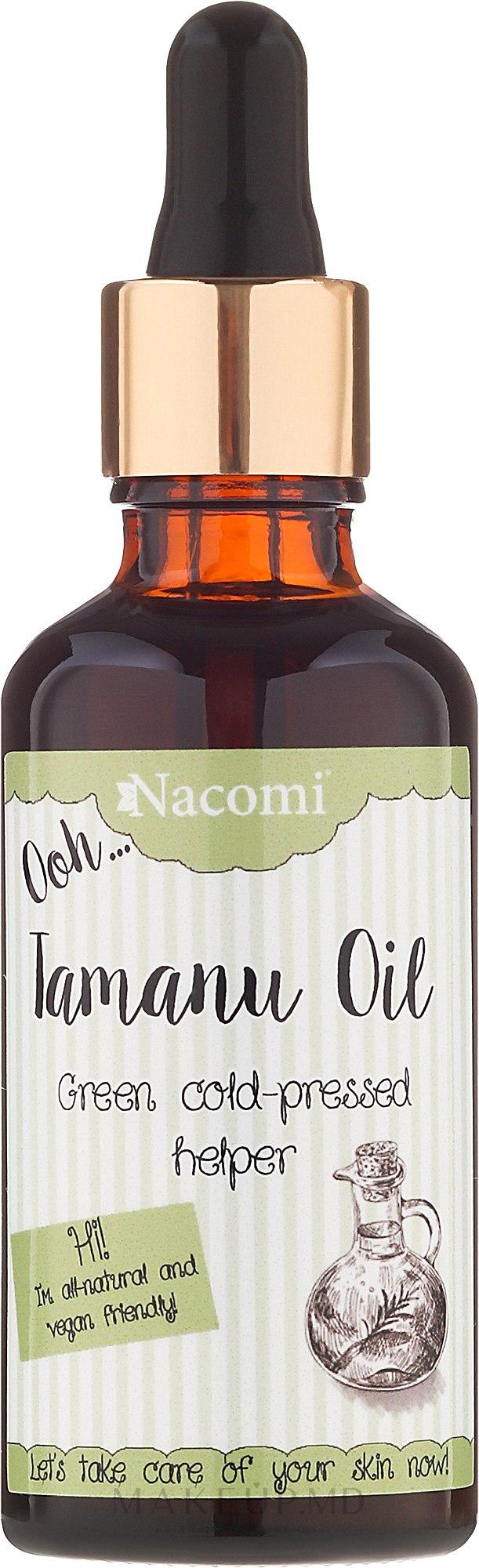 Ulei de păr cu extract de Tamanu - Nacomi — Imagine 50 ml